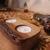 Unique rustic bark edge tea light candle holder