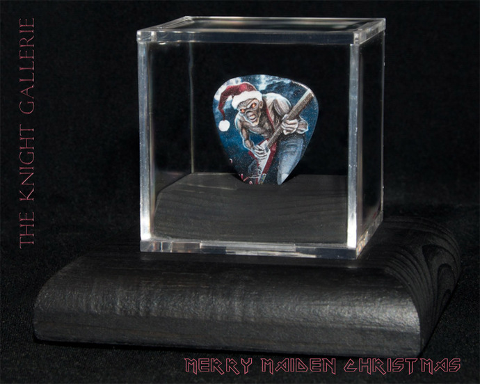 Commemorative guitar pick and display case: Merry Maiden Christmas!