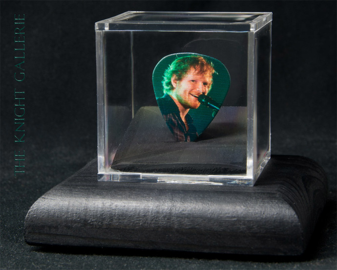 Commemorative guitar pick and display case: Ed Sheeran