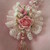 Large Vintage Style Handmade Lace Flower with Stickpin