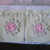 2 x Shabby Handmade Canvas Gift Bags - 4 x 5 inches