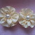 2 x Large Vintage Style Handmade Ribbon Flowers
