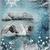 Winter Lake Digital Collage Greeting Card2103