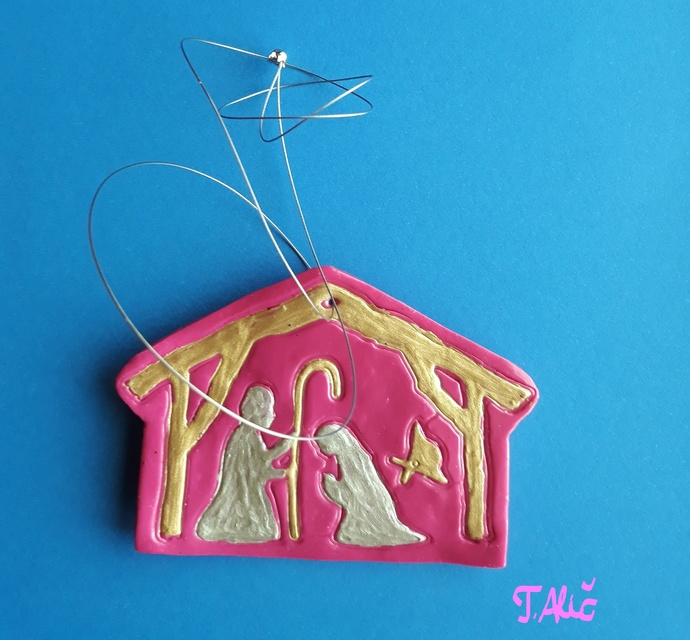 Handmade nativity scene (material: polymer clay - product 302/2018)