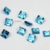 5mm Swiss Blue Topaz Faceted Square - 2 pieces