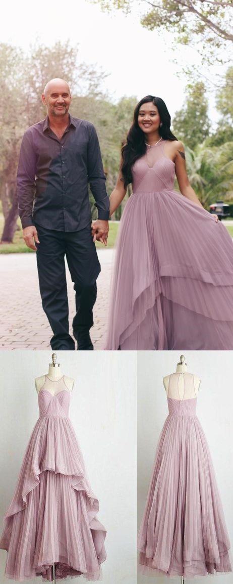 Long Prom Dress A-line Floor-length Ruffles Prom Dress/Evening Dress