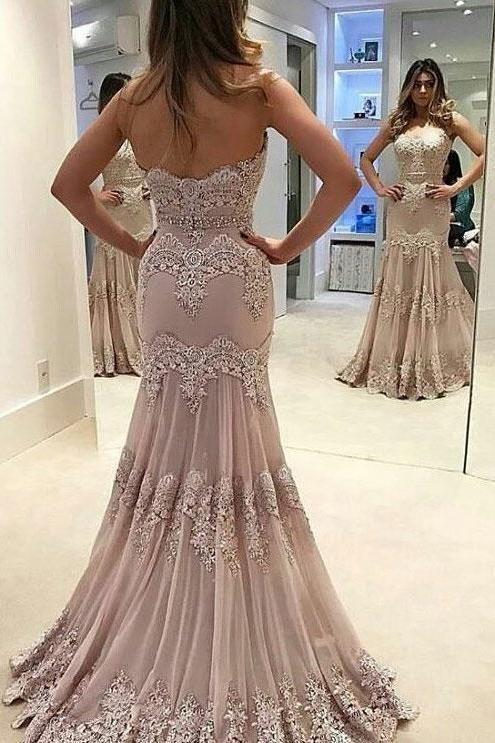 Vintage Prom Dress,Strapless Prom Dresses,Sweetheart Prom Dresses