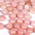 8mm Pink Opal Round Cabochon - 3 pieces