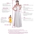 A-Line V-Neck Floor-Length Ivory Satin Prom Dress with Beading