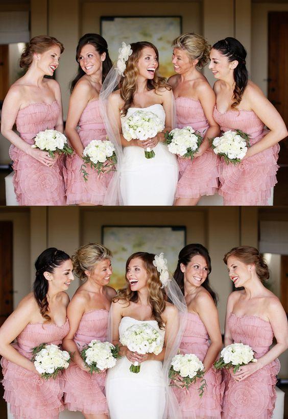 A-Line Sweetheart Sleeveless Pink Chiffon Bridesmaid Dress with Pleats Flower