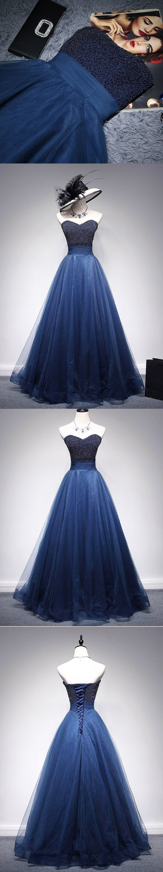 Beading Prom Dresses A Line Sweetheart Long Prom Dress Sexy Evening Dress