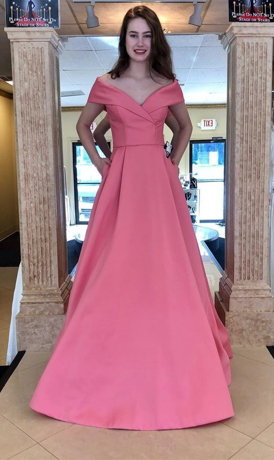 Off The Shoulder Prom Dress A Line Long Formal Evening Gown For Graduation