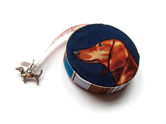 Tape Measure Realistic Dachsunds Retractable Small Measuring Tape