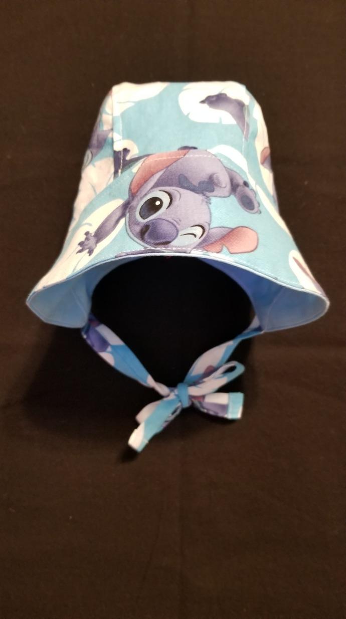 0-3 Month Stitch Baby Bonnet