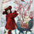 Christmas Girl Picking Berries Digital Collage Greeting Card372