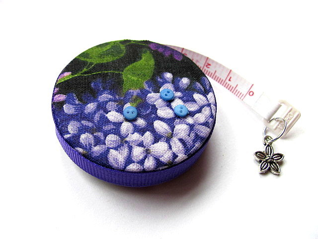 Pocket Measuring Tape with Lilacs Retractable Tape Measure