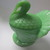 L.E. Smith glass jadeite covered turkey