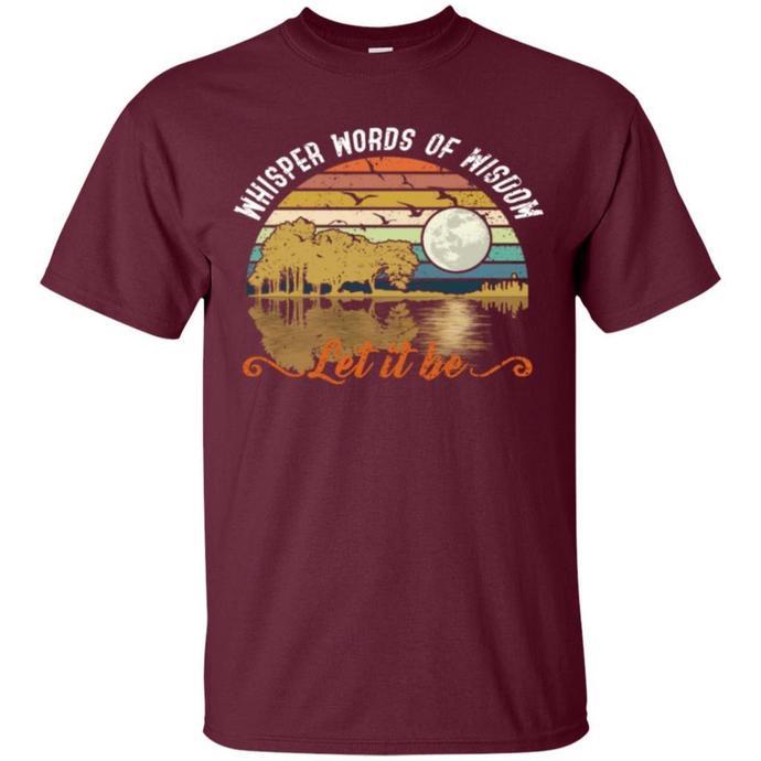Retro Whisper Words Of Wisdom, Let it Be Guitar Men T-shirt, Whisper Words Of