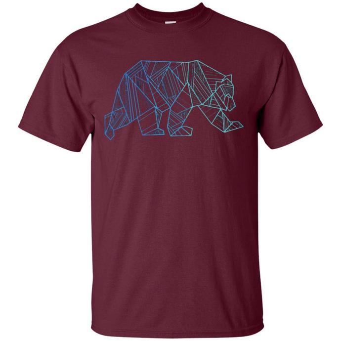 Geometric Bear Men T-shirt, Geometric Bear Tee, Bear T-shirt, Geometric Men