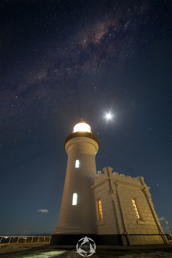 Pt. Perpendicular Lighthouse under our Milkyway