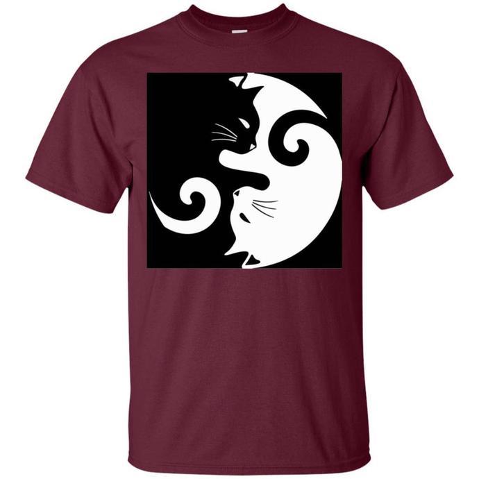 Yin Yang Cat Men T-shirt, Yin Yang Tshirt, Yin Yang Cat Tee, Cat Men T-shirt,