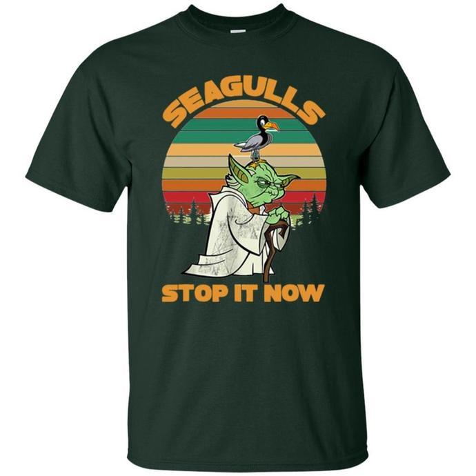 Funny Seagulls Stop It Now Vintage Men T-shirt, Retro Funny Seagulls T-shirt,