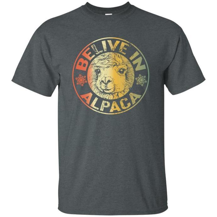 Belive in Alpaca Men T-shirt, Belive in Alpaca Tee, Alpaca Men T-shirt, Belive