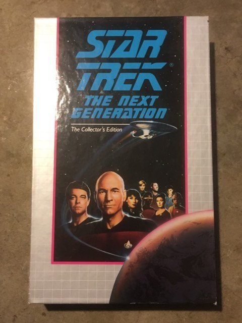 VHS Star Trek TNG Collector's Silicon Avatar / Disaster TV Show 1992 Vintage