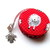 Tape Measure Knitting Sheep on Red Retractable Measuring Tape