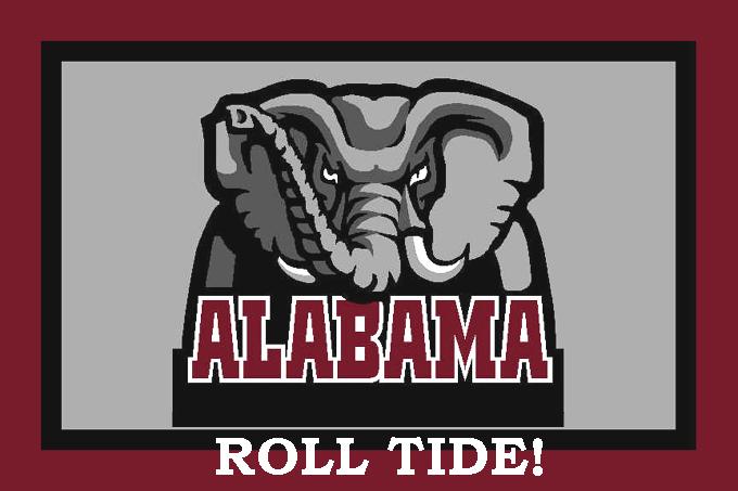 Alabama Crimson Roll Tide Cross Stitch Pattern***LOOK*** ***INSTANT DOWNLOAD***