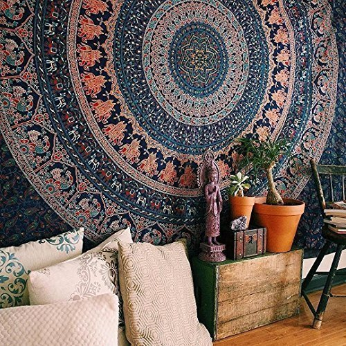 Indian Dorm Decor, Psychedelic Tapestries Wall Hanging Ethnic Decorative
