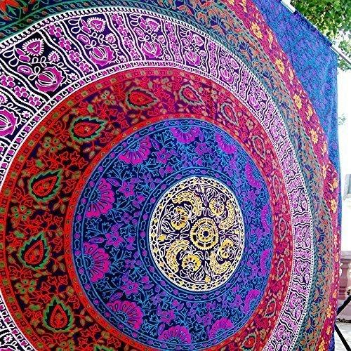 image 0 image 1 image 2 indian Hippy Mandala Bohemian Tapestries, Dorm Decor,