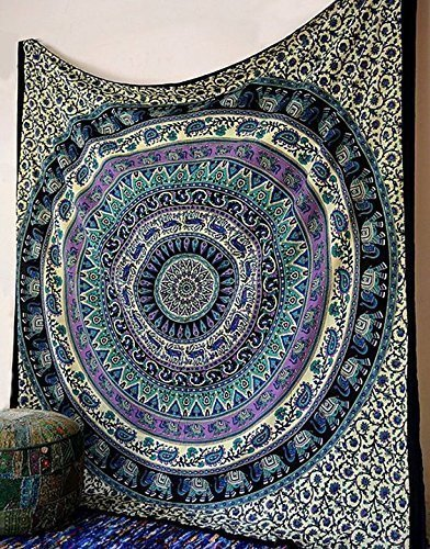 Indian Dorm Decor, Psychedelic Tapestry Wall Hanging Ethnic Decorative Tapestry