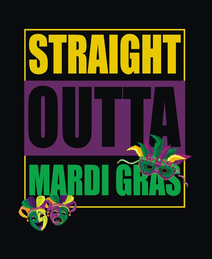 Straight Outta New Orleans SVG, Mardi Gras Files, New Orleans Carnival, Cut