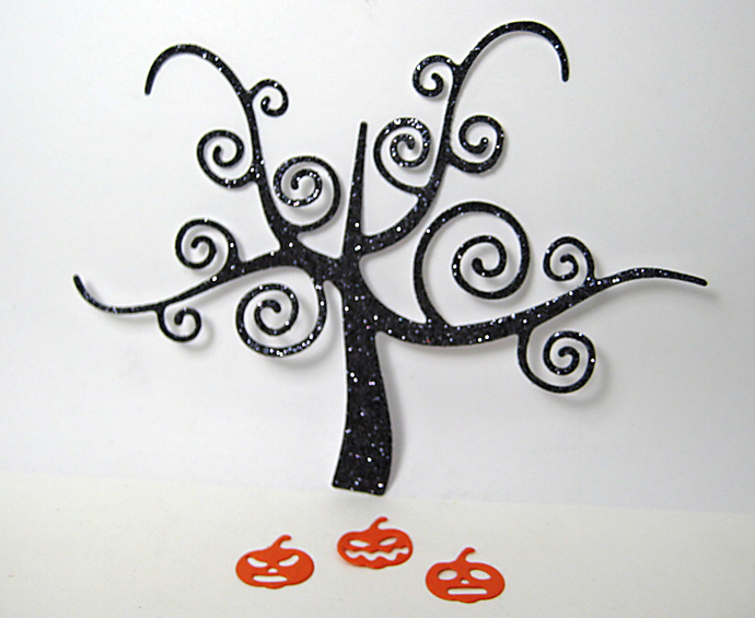 Spooky Tree and Pumpkins Halloween Cutting Die
