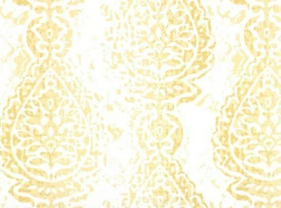 Saffron yellow & White Manchester print fabric. fabric by yard.  Premier Prints.