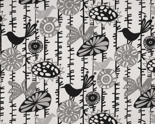 Onyx and natural Menagerie print fabric. fabric by yard.  Premier Prints.