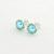 Tiffany Blue Button Freshwater Pearl Flower Post Earrings AAA Filigree Light
