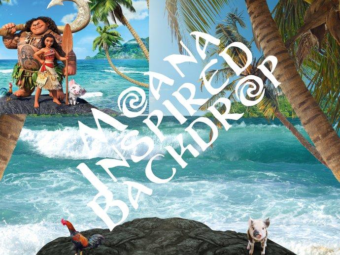 Moana Inspired Digital Backdrop III, Disney Inspired, Maui, Te Fiti,