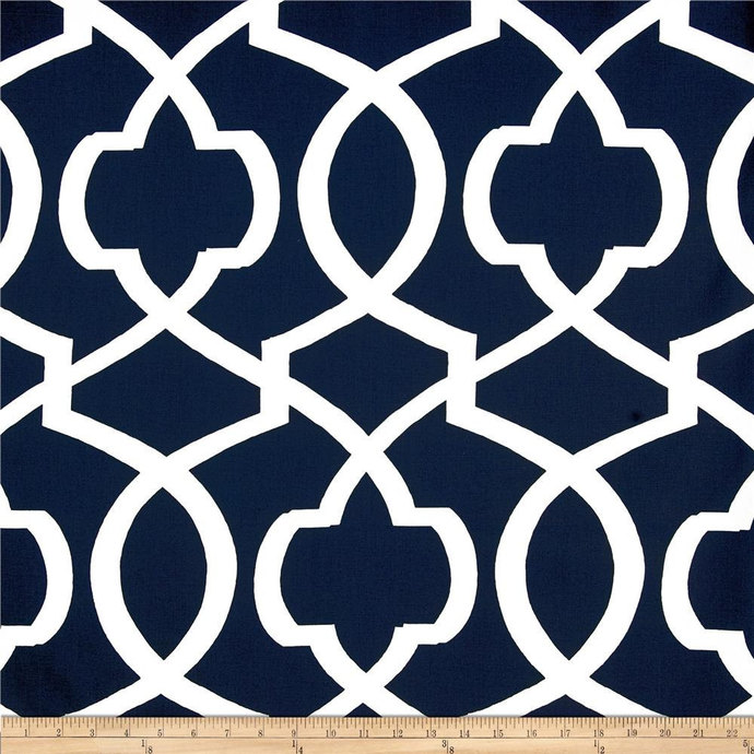 Blue  and white Morrow  print fabric. fabric by yard.  Premier Prints. cotton.