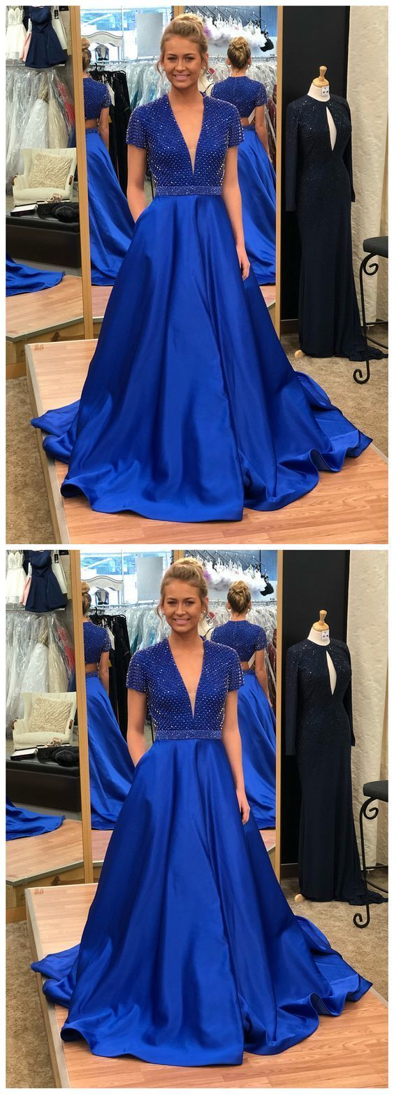 Royal Blue Long Prom Dress, Prom Dress, Graduation Dress, Party Dress
