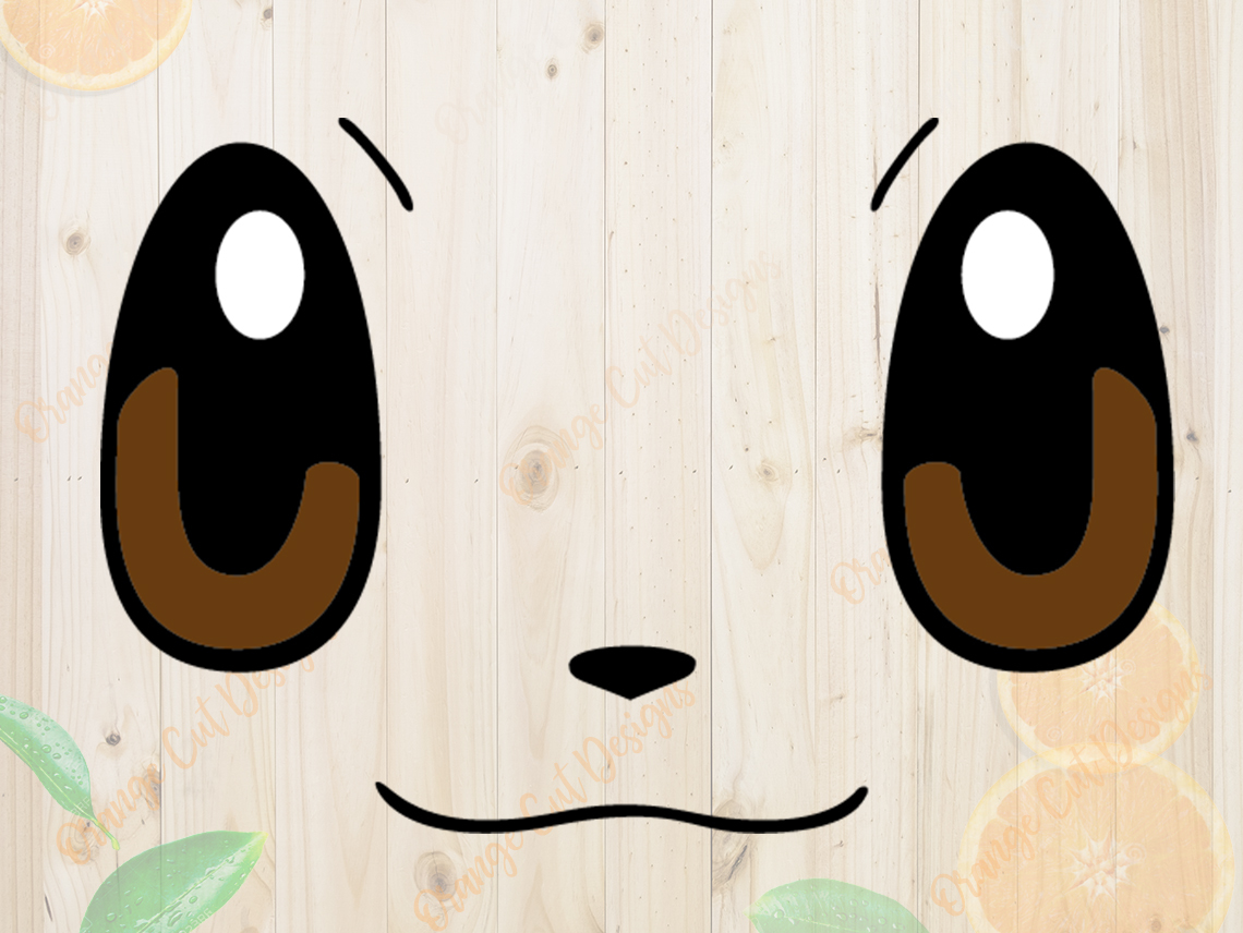 Pokemon Svg Cutfiles Eevee Face Cutfiles Eevee By