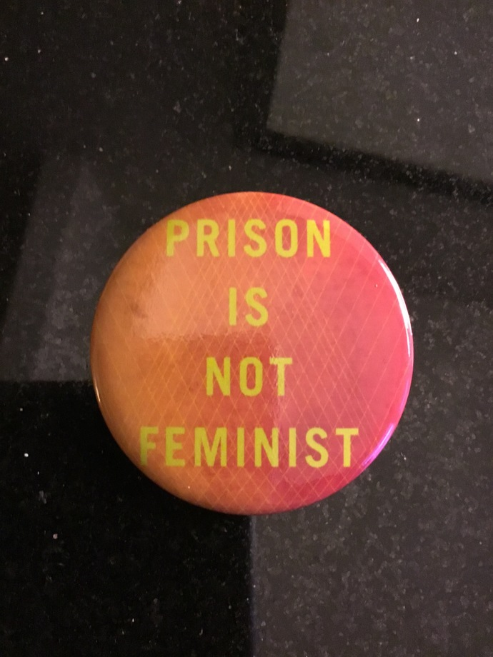 Prison is not feminist button