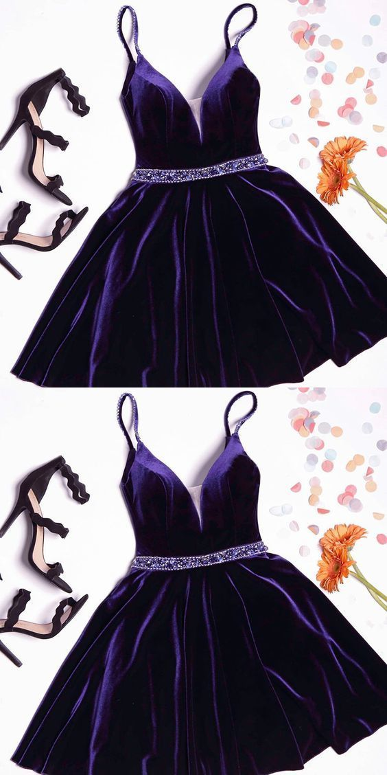 A-line Homecoming Dresses,Purple Homecoming Dresses BD2150