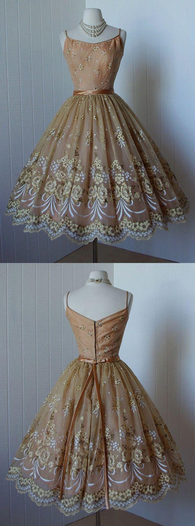 Spaghetti Straps Homecoming Dresses,Sleeveless Knee Length Short Prom Dresses
