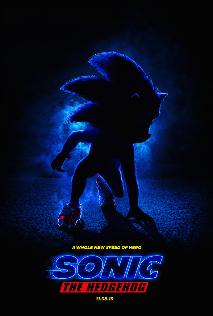 "Sonic the Hedgehog Movie Polyester Fabric Poster (13""x19"" or 18""x28"")"