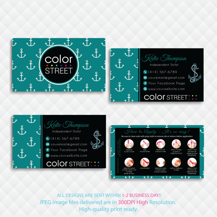 Personalized Color Street Business Card, How to Apply Cards, Color Street