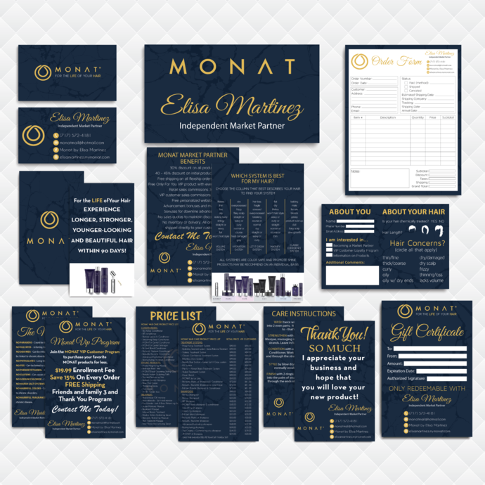 Monat Marketing Kit, Custom Business Card, PERSONALIZED Monat Marketing Bundle,