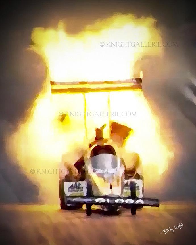 Drag Racing Image: Top Fuel Fire