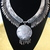 Tribal Indian silver necklace Rajasthani antique OOAK